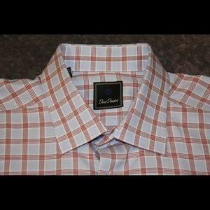 David Donahue Mens Trim Dress Shirt 17 1/2 34/35